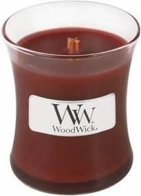 Sviečka oválna váza WoodWick Santalové drevo, 85 g