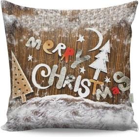 Vankúš Merry Christmas, 43 × 43 cm