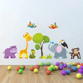 Dekorácia na stenu - Jungle 90x60