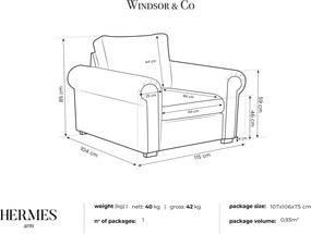 WINDSOR & CO Kreslo Hermes