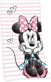 Herding Osuška Minnie Mouse 75x150 cm