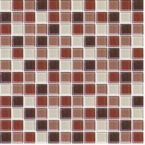 Sklenená mozaika Premium Mosaic hnědá 30x30 cm lesk MOS25MIX6