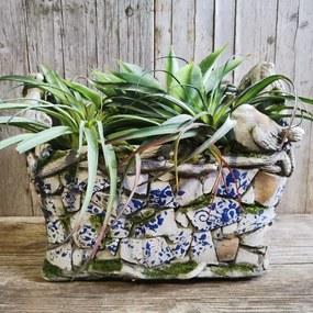 KOŠÍK OBAL na kvety mgo keramika 36,5X24X29,5CM