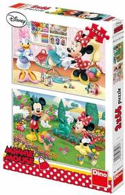 Puzzle Pracovitá Minnie 2x66 dílků 32,3x22cm v krabici 23x33x3,5cm