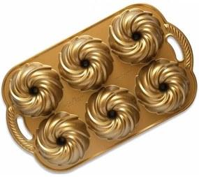 Nordic Ware Hliníková forma Anniversary Swirl Gold