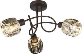 Globo 54357-3 Stropné Svietidlá INDIANA bronz kov 3 x E14 max. 40W IP20