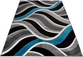 Kusový koberec Moderné vlny modrý, Velikosti 60x100cm