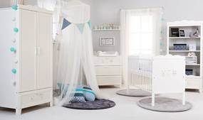 KLUPS MARSELL Detská izba - postieľka, regál, komoda, skriňa