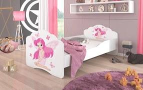 Dievčenská posteľ do detskej izby Agnes 160x80 cm