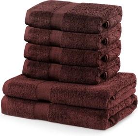 Set 2 hnedých osušiek a 4 uteráka DecoKing Marina