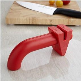 Zwilling Brúska na nože Twin Sharp červená 16,5 cm