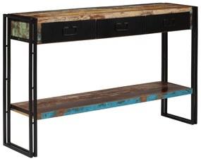 vidaXL Konzolový stolík, recyklovaný masív 120x30x76 cm