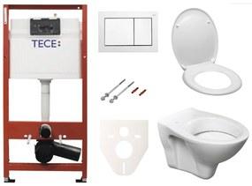 Závesný set WC S-line + modul TECE s tlačidlom TECEbase (biela) SIKOTSD0