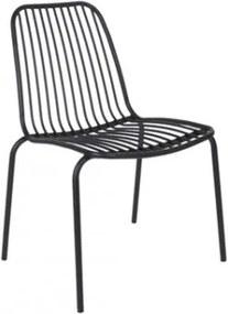 Venkovní židle LINEATE, černá Present time LM1837BK