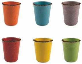 Sada 6 keramických pohárov na vodu Villa d'Este Baita, 350 ml