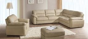 Kvalitní sedací souprava Balt 2  Roh: Orientace rohu Levý roh, Potah DLM : Potah Eko-kůže Loft 12 černá