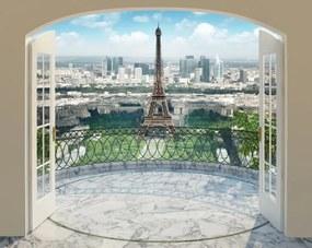 Walltastic 3D Tapeta Paríž_Eiffelova veža, Rozmer 244cm x 305cm