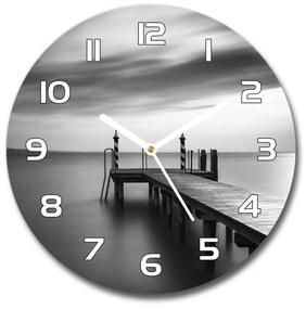 Sklenené hodiny okrúhle Mólo nad jazerom pl_zso_30_f_179985684