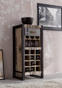 Bighome - FABRICA Regál na víno 120x51 cm, mango
