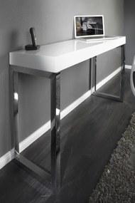 Bighome - Pisací stolík SALMA vo vysokom lesku - biela