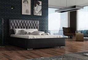 Expedo Čalúnená posteľ REBECA + rošt + matrac 140x200