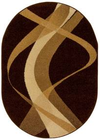 Koberec BROWN hnedý ovál