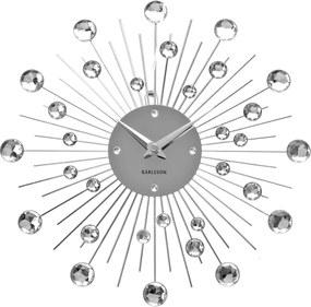 Nástenné hodiny Sunburst – stredné kryštály