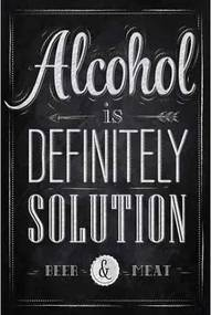 Ceduľa Alcohol is Definitely Solution