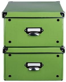 MELINERA® Úložný maxi box, 2 kusy, zelená (100300228)