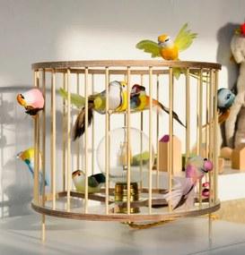 Stolná lampa LAKALUK Birdcage prírodná