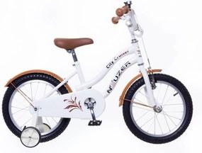 """Detský retro cruiser bicykel pre dievčatá 12"""" biely"""