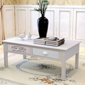 vidaXL Konferenčný stolík vo francúzskom štýle, drevený