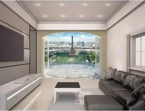 EIFFEL TOWER IN PARIS - WALLTASTIC® 3D FOTOTAPETA The View Collection (3589) NELICENČNÉ / ZVIERATÁ, KVETY, DINOSAURI... WAL2996
