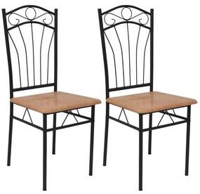 Jedálenské stoličky, 2 ks, hnedé