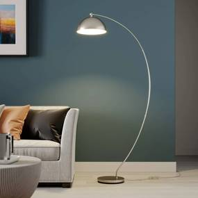 Lindby Zara oblúkové LED svietidlo, nožný stmievač