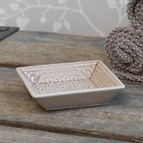Chic Antique Porcelánová mydelnička Ornament Latte