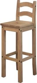 OVN barová stolička IDN 1628 borovica masív vosk