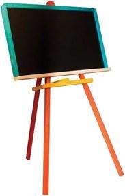 Drevobox Detská farebná tabuľa drevená