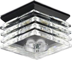 Emithor 71065 ELEGANT GLASS zápustné svietidlo GU10 / 50W, čierna