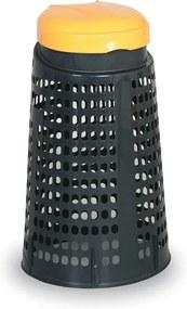 Artplast Plastový odpadkový kôš na 120 L vrecia, čierny, žltý vrchnák