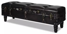 240552 Dlhá hnedá úložná lavica