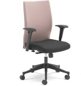 Kancelárska stolička MILTON s odnímateľným poťahom, šedá / čierna