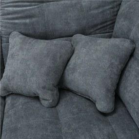 TEMPO KONDELA Nicoleta P rohová sedačka u sivá