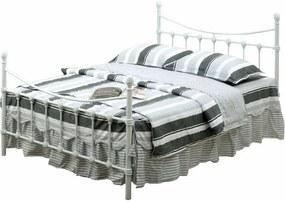 TEMPO KONDELA Nieves 90 kovová jednolôžková posteľ s roštom biela