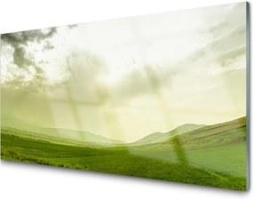 Sklenený obklad Do kuchyne Lúka Príroda Zelený Výhľad