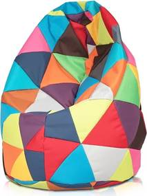 Sedací vak Junior trojuholník NIL - mix