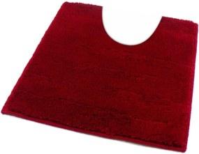 ROUTNER Kúpeľňová predložka UNI COLOR Červená 10105 - Červená / 50 x 50 cm WC s výkrojom 10105