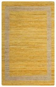 vidaXL Ručne vyrobený jutový koberec žltý 160x230 cm