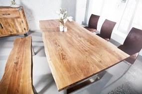 Jedálenský stôl Mammut II 160 cm z masívneho agátového dreva