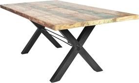Bighome - Jedálenský stôl TISE 180 cm - prírodná, čierna